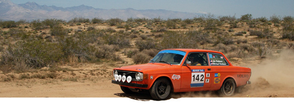 Jim Robison & Michael Robison hit the stages in their Volvo 142