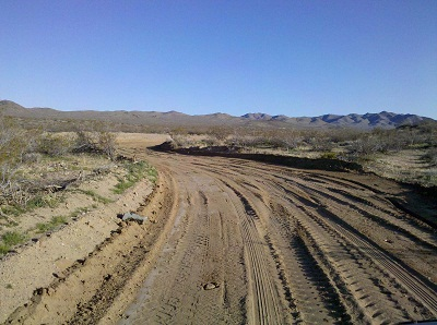 road grading at the High Desert Trails Rally