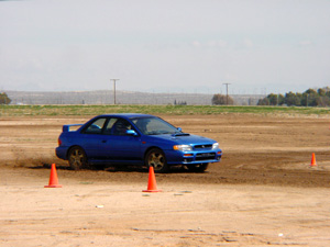 An AWD Subaru at the CRS Rally School